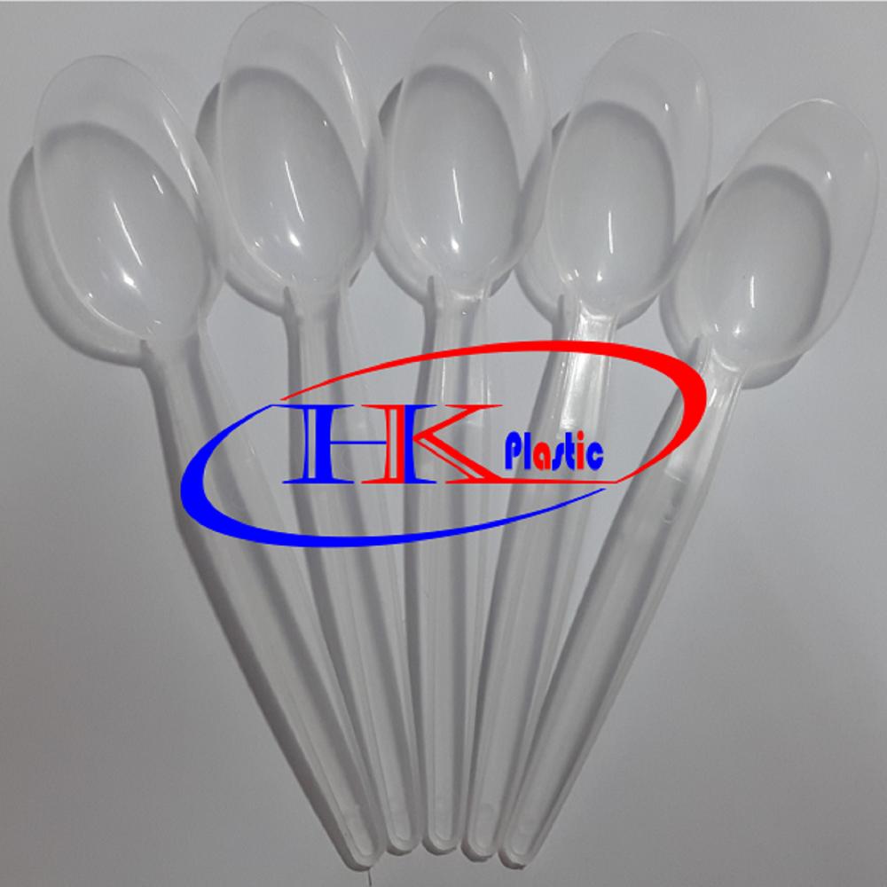 Thìa nhựa HK, Thìa nhựa dùng một lần, thìa ngắn, thìa dài HK02